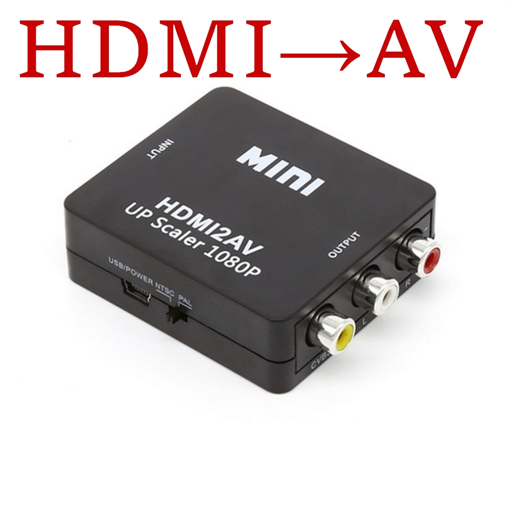 Mini 1080P HDMI VGA to RCA adapter Converter VGA2AV / CVBS Converter Connector with Audio for Notebook PC for HDTV Projector защитная пленка red line для samsung galaxy star plus матовая