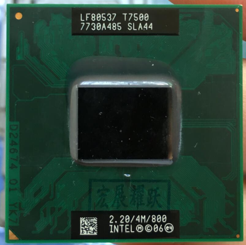 Процессор Intel Core 2 Duo T7500, процессор для ноутбука, PGA 478, ЦП, 100% исправно работающий