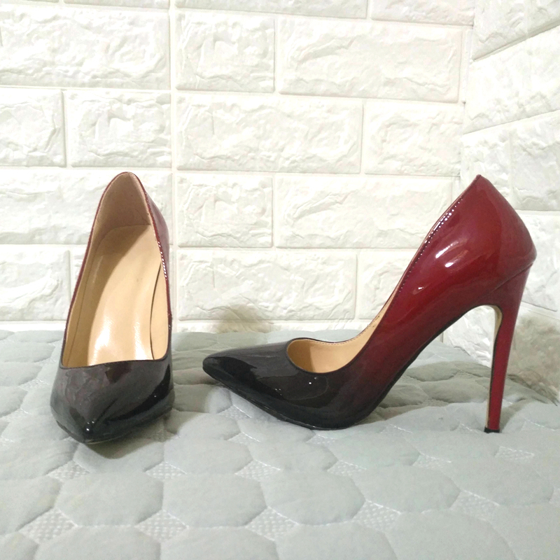 Couleur Stiletto 35 Changement Bout Kcenid Sexy De Progressif Mariage Wine Talons Pointu Mujer 47 Grande Red Pompes Femmes Classiques Taille Chaussures Zapatos Haute TvSqStw