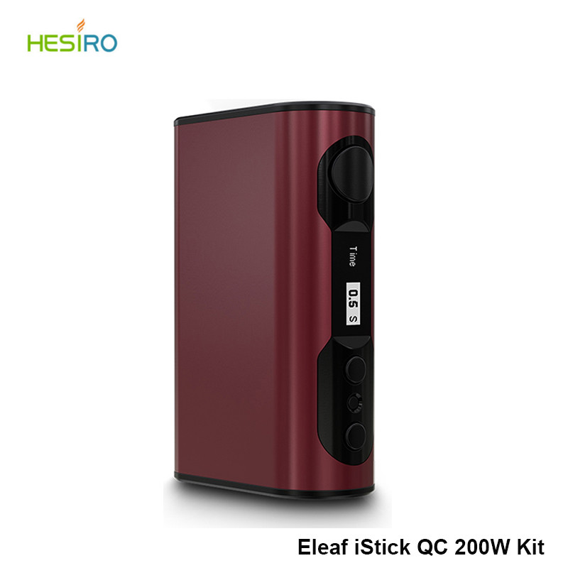 Original iStick QC 200W 5000mAh built-in Battery 5Colors Wood Grain Temp Control Box Mod Eleaf iStick QC 200W MOD E-cig Vape