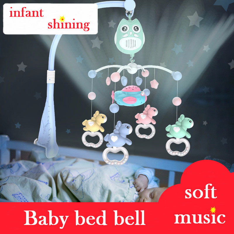 Baby Bed Bell Baby Rattles 3-12 Months Year Old Light Music Rotation Baby Bedside Ringing Puzzle Newborn Toys цена