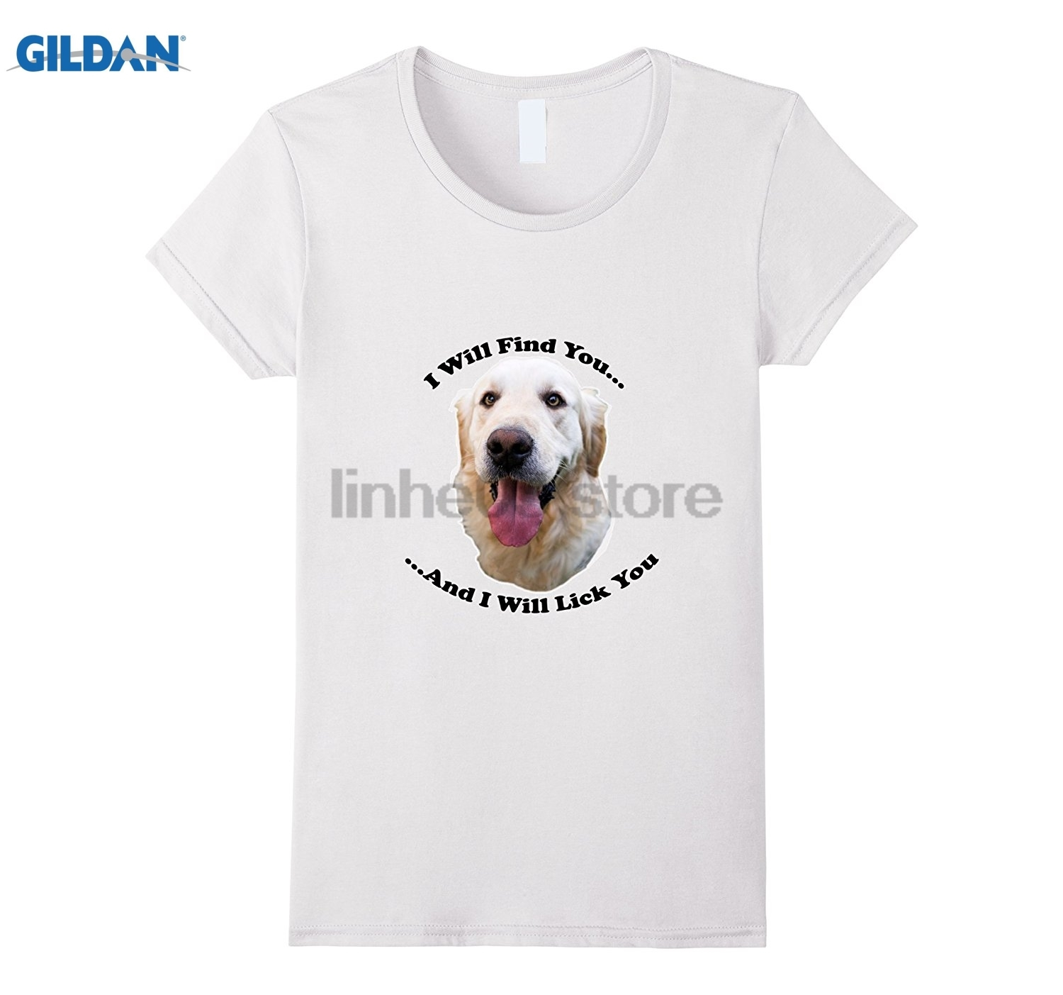 GILDAN Golden Retriever I Will Lick You T-Shirt sunglasses women T-shirt ...