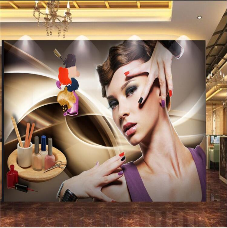 Customize Any Size 3D Wallpapers Murals Photo Beauty Salon