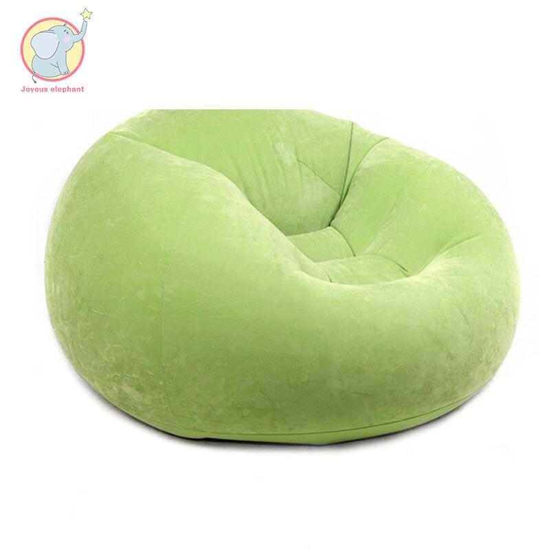 Chaise gonflable hamac paresseux sac chaise doux haricot bureau salon trois couleurs salon extérieur paresseux sac plage Air lit