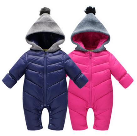 New Baby Rompers Warm Winter Infant Baby Boys Girls Outerwear Girls Kids Hooded Jumpsuit Body Suit Baby Climbing Clothes iyeal kids winter jackets 2017 new solid hooded baby girls boys cotton thincken coats infant outerwear warm clothes 1 4 years