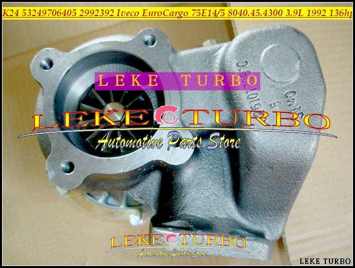 Bateau libre K24 53249706405 53249886405 465379-0003 Turbo Turbocompresseur Pour Camion IVECO bus EuroCargo 75.14 75E14 75E15 3.9L 136HP