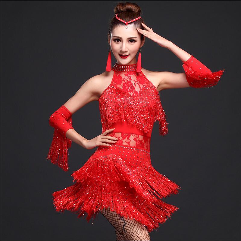 16678fe01 2018 nuevo vestido de baile latino para las mujeres niñas nuevo Sexy ...