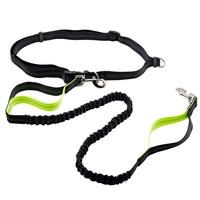 VUGSUCE Nylon Pet Dog Hands Free Leash Running Retractable Adjustable Dual Handle Bungee Leash Leads Walking