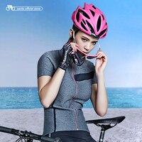 Santic Mujeres Ciclismo Corta Jersey Pro Fit Verano SANTIC N-FEEL Ocio Urbano Road Bike Riding Camisas Ciclismo Clothings L7C02115