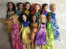 Princess Dolls Ariel Snow White doll Belle Rapunzel Dolls Girls Brinquedos Toys Kids Toys Girls Gift doll without box