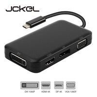 Jckel USB C HUB USB C 3.1 to HDMI DP Displayport VGA DVI Adapter USB C to HDMI VGA 1080P Video Converter for Macbook Dell Xps