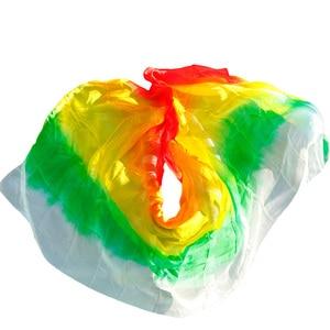 Image 3 - Yeni stil oryantal dans peçe 100% ipek peçe el yapımı kademeli renk peçe özelleştirilebilir