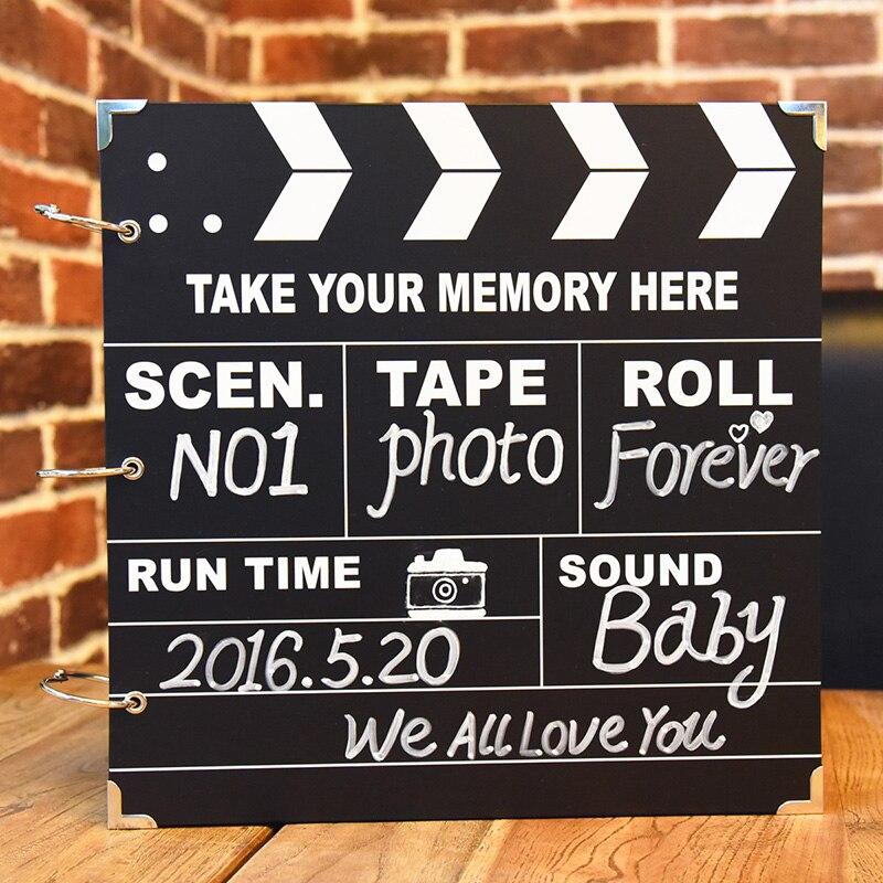 Creative BRICOLAGE Photo Album Polaroid Manuellement Pâte Type Mince Bébé Livre Romantique Couples Cadeau Vente Chaude Autocollants BRICOLAGE Scrapbooking