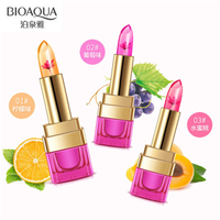 2018 Bioaqua flowers jelly temperature change lipstick lip moisturizing non stick Cup