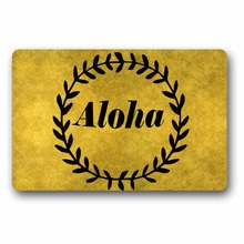 цена Entrance Floor Mat Non-slip Doormat Aloha Design Door Mat Outdoor Indoor Rubber Mat Non-woven Fabric Top 15.7x23.6 Inch