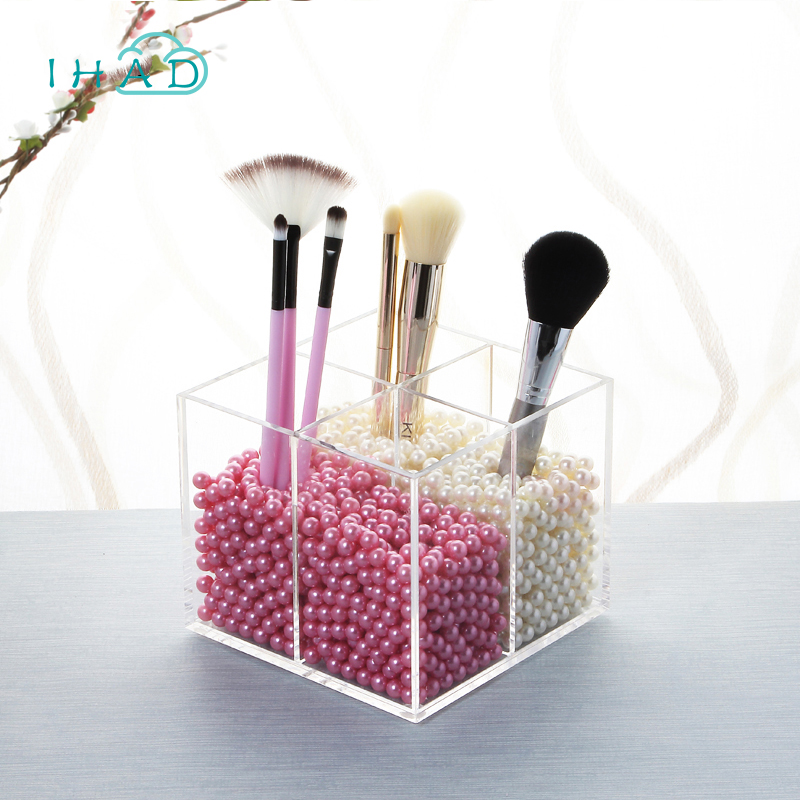 Exquisiteness Acrylic Storage box Cosmetic Organizer Makeup brush pen small jewelry Storage Display Decorative dressing table