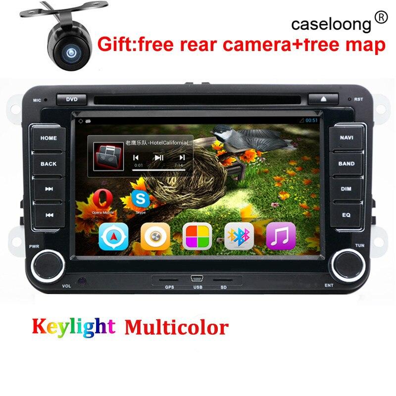 Quad Core android-автомобильный DVD для <font><b>VW</b></font> Гольф 4 Гольф 5 6 Touran Passat B6 Sharan Jetta Caddy Transporter T5 поло Tiguan автомобильный GPS радио