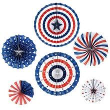 6 шт вечерние украшения для Дня независимости 4 июля праздничные вечерние фоны фон Новая мода настенные украшения