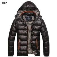 2017 Hot Winter Jacket Men Warm Down Jacket Casual Hooded Parka Men Cotton Padded Winter Jacket