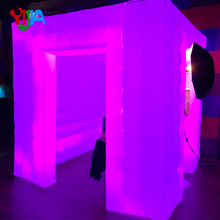Wedding Party Use LED Full Strips Inflatable Photo Booth With Two Entrance and Inner Air Blower automatic photo booth for Sales цена 2017