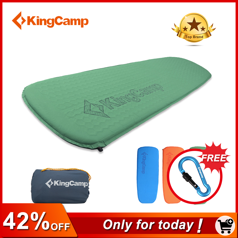 KingCamp Self-Inflating Camping Sleeping Pad Damp-Proof Durable Thick Camping Mat Automatic Air Mattress for Camping Trekking цены онлайн