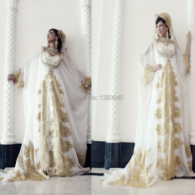 Luxury Arabic Dubai Wedding Dresses A Line Sweetheart Sheer Long ...