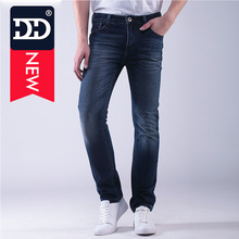 DD Jeans Men 2016 Middle-waist Mens Casual Straight Mens Jeans Straight Regular Jeans Mens Long Cowboy Pant Highest Quality