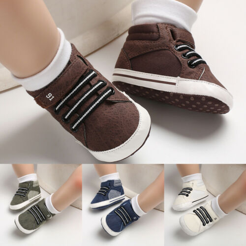 Toddler Kids Baby Canvas Shoes Sneakers Baby Boy Girl Soft Sole Crib Shoes 0-18Months Casual Summer Winter Shoes