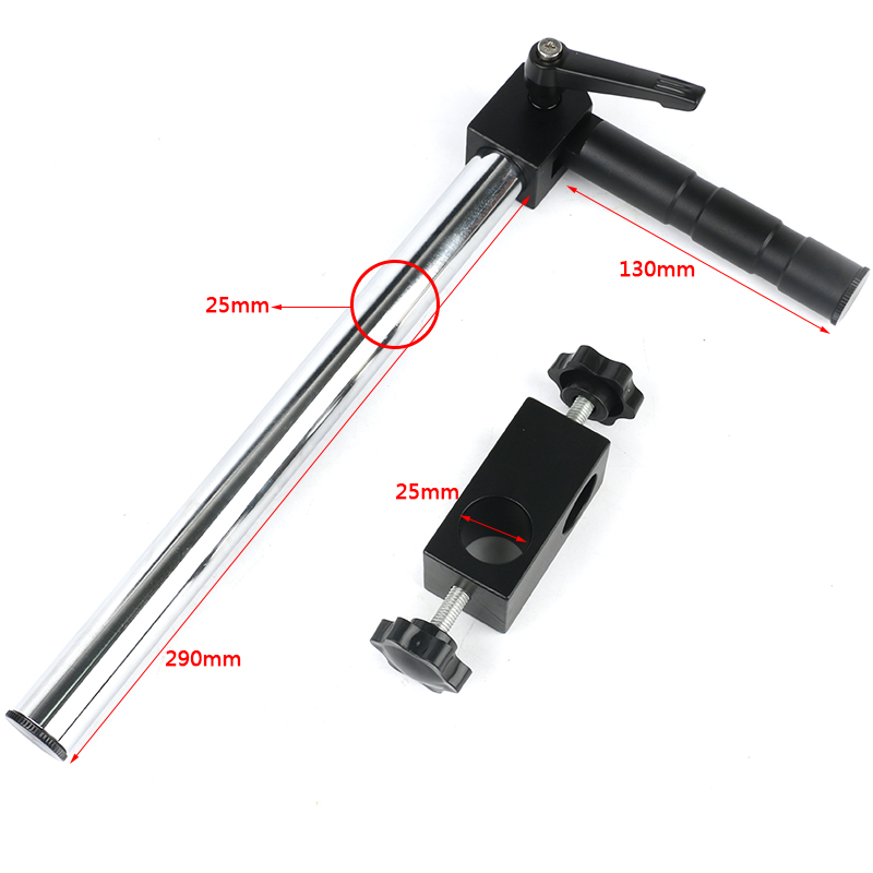 Diameter 25mm Stages Holder Lengthen Multi-axis Adjustable Metal Arm For Trinocular Microscope Industrial Video CameraDiameter 25mm Stages Holder Lengthen Multi-axis Adjustable Metal Arm For Trinocular Microscope Industrial Video Camera