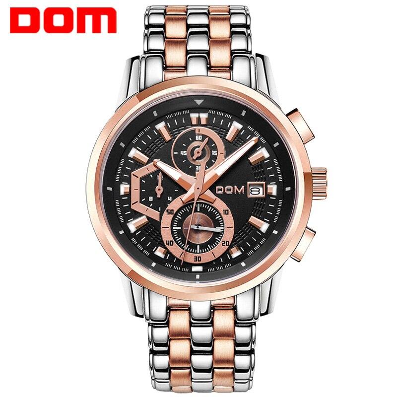 ФОТО DOM fashion brand quartz military watch men  army style sport watches for men  chronograph wristwatch mens relogio masculino