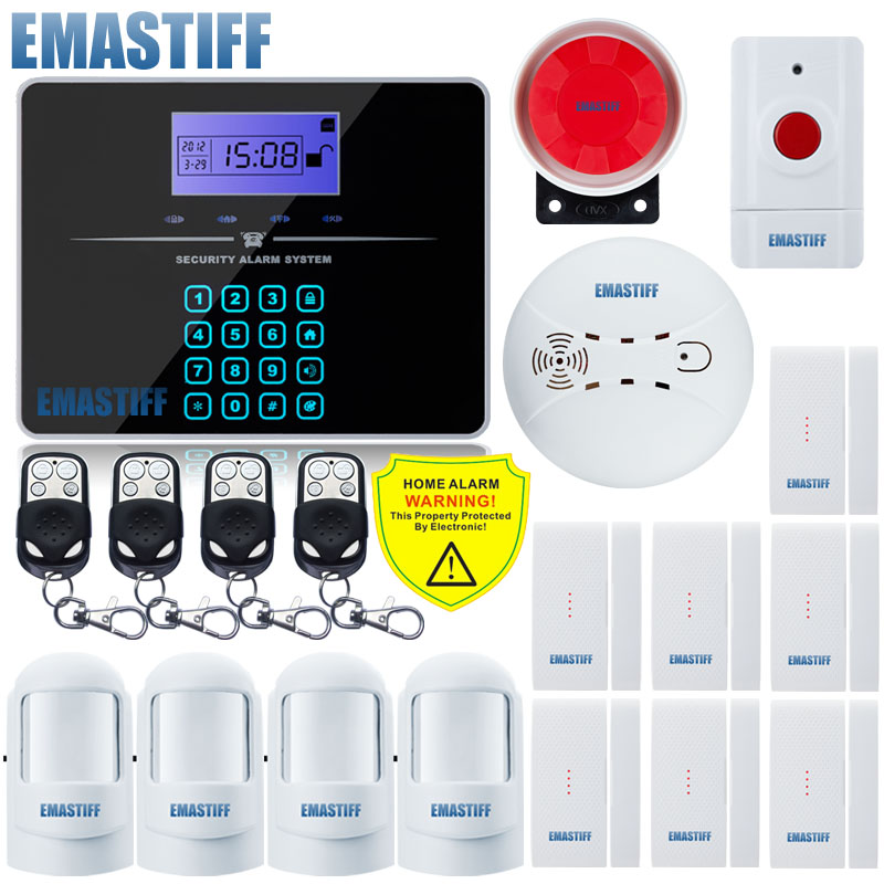 Touch Keypad G3B English LCD Wireless 433MHZ SMS GSM Home automation kit Burglar Security Detector Sensor