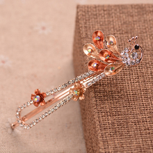 2016 New Brand Hairpins Painted Peacock  Hair Pin Fine Jewelry Hairgrips Hair Clip For Women Hair Accessories