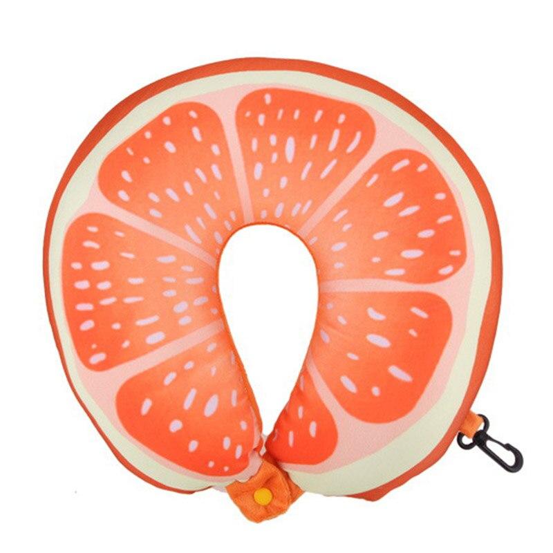 Fruit U Vormige Reizen Kussen Kussens Kussen Nanodeeltjes Nekkussen Auto Reiskussen (oranje) Bloedcirculatie Activeren En Pezen En Botten Versterken