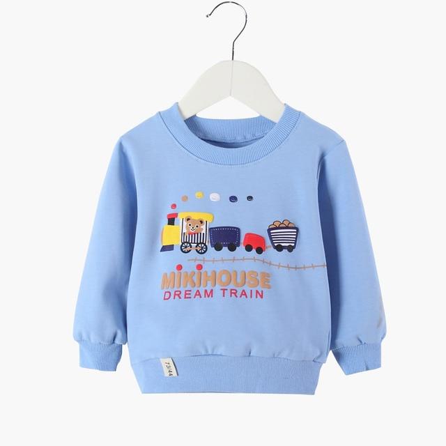 Bbobo ChosesS חורף 2018 אביב ובסתיו תינוק פעוט ילדי בנות חולצות כותנה ארוך שרוולים חורף נמוך חולצות חולצות