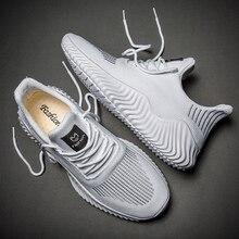 Hemmyi Sneakers Men Flyknit Breathable Casual Male Footwear Light Big Size Tenis