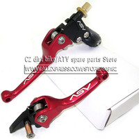 Red Aluminum Alloy ASV F3 Series 1ST Universal Clutch Brake Folding Lever Fit To Dirt Bike