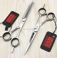 5.5 pulgadas / 6 pulgadas Kasho KIV corte tijeras y tijeras de reducción kits, profesional del pelo humano tijeras para Salon usado, 1 Unidades LZS0156