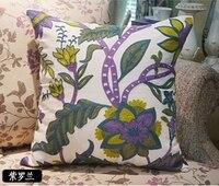 Embroidery Pillow Cover Sofa Cushion Cover 100% Cotton Wedding Pillow Cover Boho Home Decor, Custom Size and Color 45X45CM/40CMR
