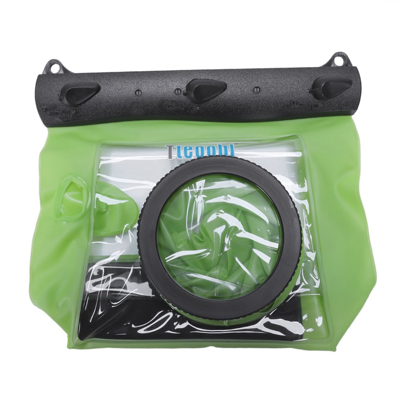 Slr Camera Waterproof Case 5D3 For Canon 6D 5D2 700D For Nikon Underwater Camera Housing Case Diving Waterproof Dry Bag—Green