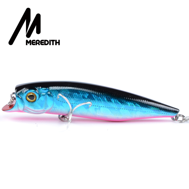 MEREDITH Fishing Lures, Assorted Colors, Minnow Crank 90mm 12g,Magnet System Hot Model Crank Bait Tucunare Fish Free Shipping