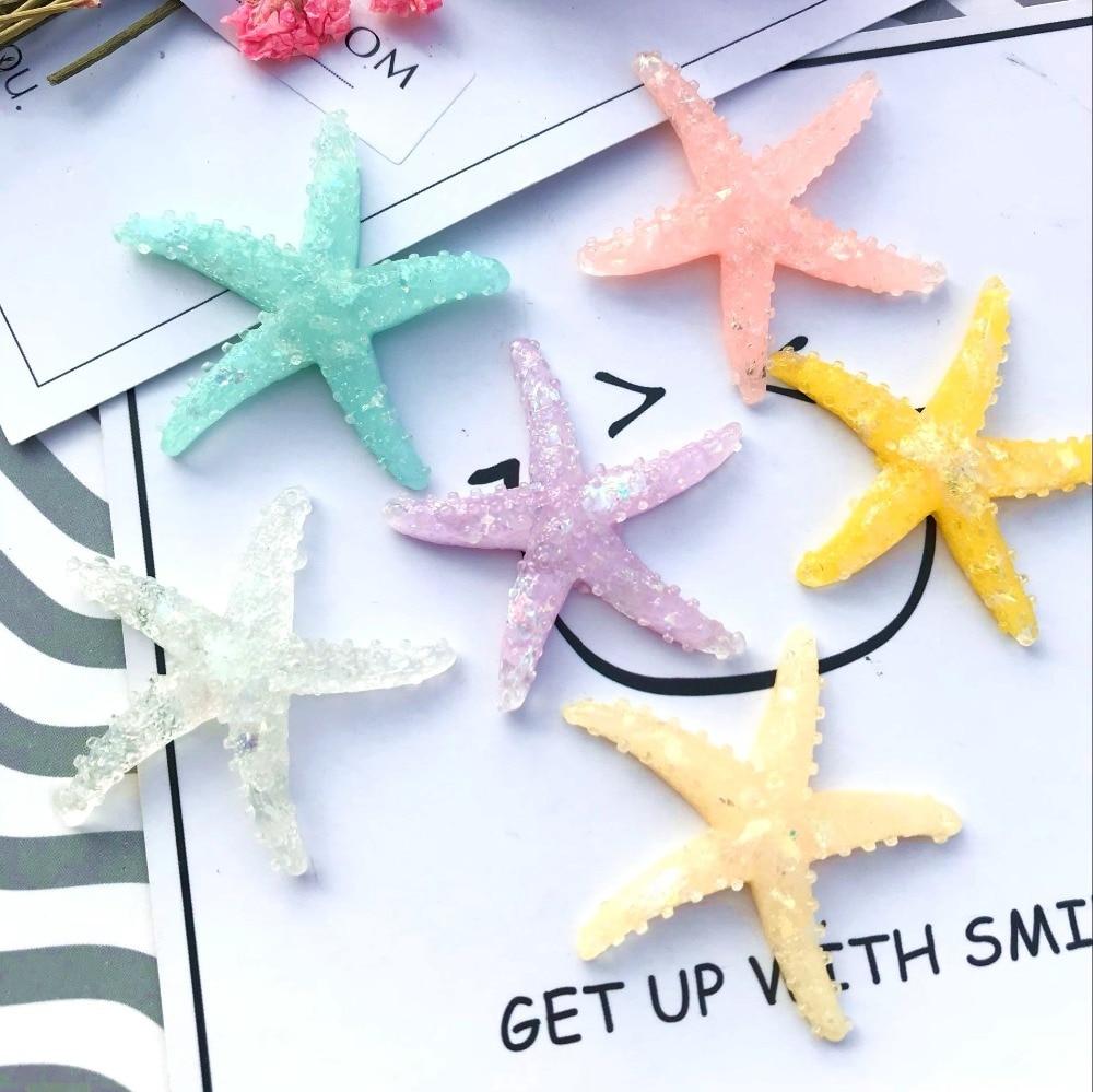 10 шт./лот плоской задней смолы starfish Подвески защита телефона DIY смолы ожерелья Аксессуары кабошоны кулон