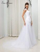 C V Double Shoulder A Line Country Wedding Dresses Botton Back Court Train Plus Size Cheap