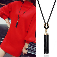 Fashion Womens Necklace Elegant Long Tassel Female Sweater Chain Charms Trendy Jewelry