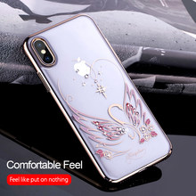 9686d839246af8 KINGXBAR Case for iPhone X Case Luxury Rhinestones Crystals from Swarovski  Cover for iPhone X 10