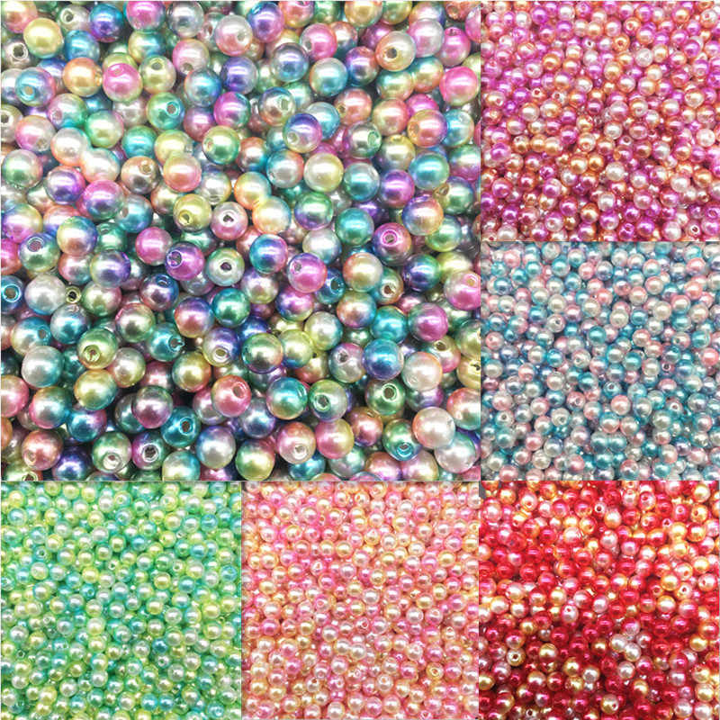 6mm 100 stücke Neue Günstige Runde Form Imitation Perlen Perlen Handmade DIY Armband Schmuck Zubehör Machen Großhandel