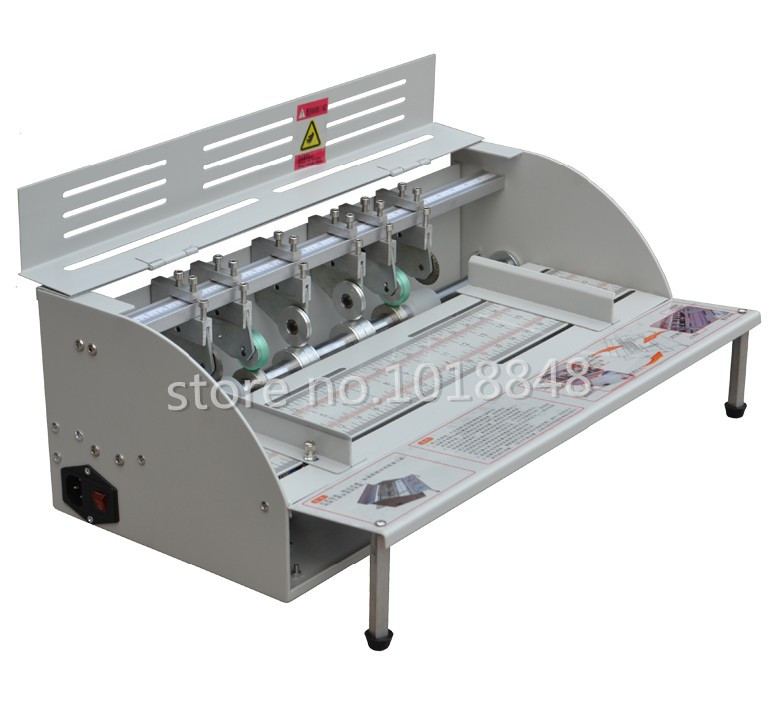 Fast shiping by DHL Electric paper creasing machine book cover creasing cutting and creasing machine 220v / 110v fast shiping for choosing