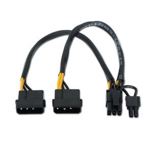 Image 2 - VKWIN câble adaptateur dalimentation double IDE Molex 4 broches vers 8 broches (6 + 2 broches) mâle vers carte graphique mâle, PCI E