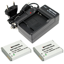 2Pcs NB-6L NB6L NB 6LH 6L Battery + Portable Wall Charger for Canon IXUS 310 SX240 SX275 SX280 SX510 HS 95 210 300 S90 S95