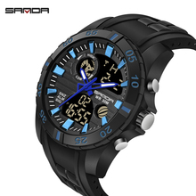 SANDA Mens Watches New Fashion Casual LED Digital Outdoor Sports Watch Men Multifunction Digital Watch  Relogio Masculino