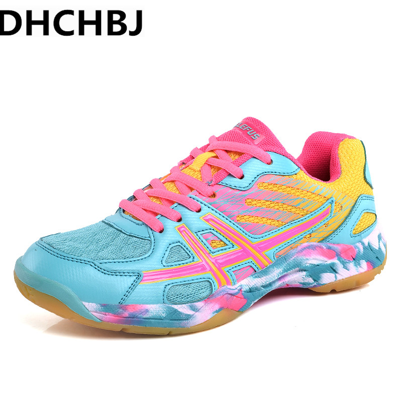 New high quality Lovers Badminton Shoes men Training Anti-Slippery Light Sneakers tennis Sport Shoes men and Women Size35-45